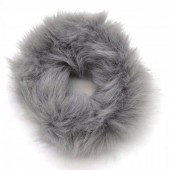 Grijze fluffy scrunchie!