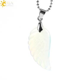 Ketting met Engelenvleugel  van geslepen Opaliet