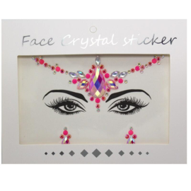 "Face Crystal sticker set ""Roze Bindi"""