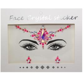 """Face Crystal sticker set """"Roze Bindi"""""""