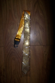 Heren stropdas met gouden pailletten!
