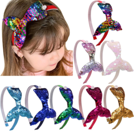 Haarband omkeerbare pailletten MERMAID rainbow