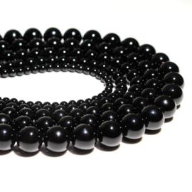 Kraal geslepen zwarte Onyx 8 mm