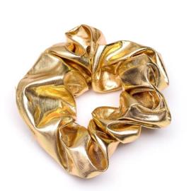 Gouden glans scrunchie!