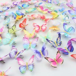 Superleuke haarclip BUTTERFLY per stuk verschillende kleuren