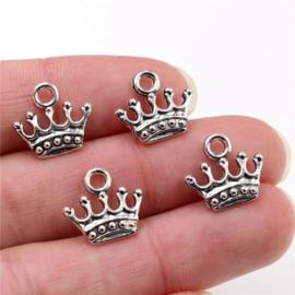Bedel Kroontje zilver 12 mm