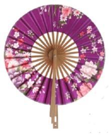 Prachtige paarse ronde waaier met klosje