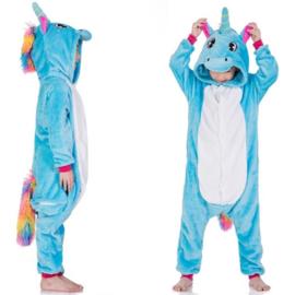 Superleuke Unicorn Onesie blauw