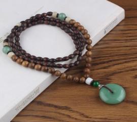 Nepalese geluksketting met Jade amulet
