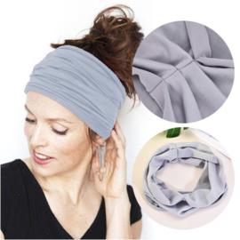 Mooie brede haarband  grijs