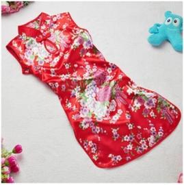Chinees bloemenjurkje rood