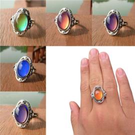 """Superleuke van kleur veranderende """"mood""""ring !"""