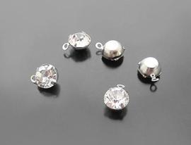 Bedel diamantje zilver 5 mm