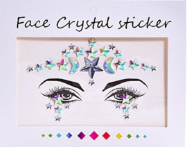 "Face Crystal sticker set ""Ster"""