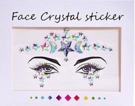 "Face Crystal sticker set ""Ster"""