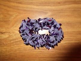 Glitter haarkrinkel met langwerpige pailletten paars