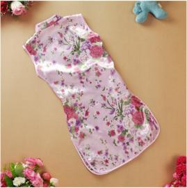 Chinees bloemenjurkje roze