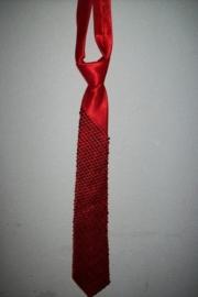 Heren stropdas met rode glitterpailletten