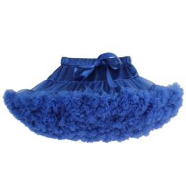 Heerlijke fluffy pettiskirt blauw 110 t/m 128