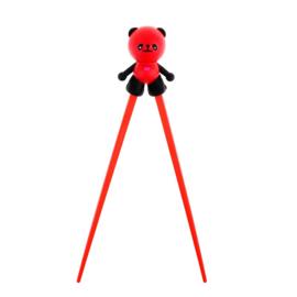 Kinder chopsticks Panda zwart/rood