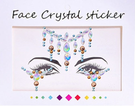 "Face Crystal sticker set ""Ketting"""