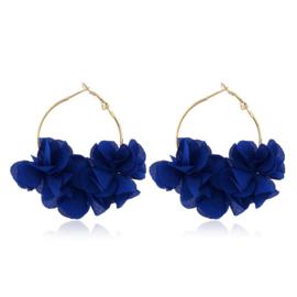 Superleuke ronde bloemoorbellen kobaltblauw