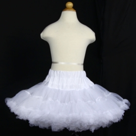 Superwijde petticoat/pettiskirt wit maat L = 128-140