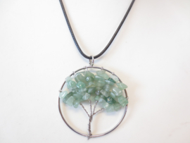 Prachtige amulet ketting Tree of Life Jade