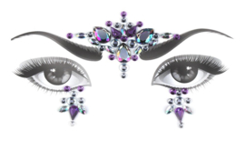Bindi Face Jewel set lila nr.2