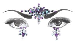 Bindi Face Jewel set lila nr.2