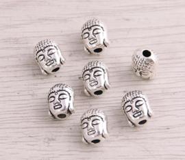 Kraal Boeddha Tibetaans zilver 7 mm