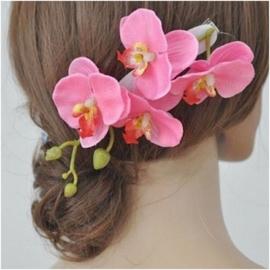 Prachtige grote haarclip orchidee roze