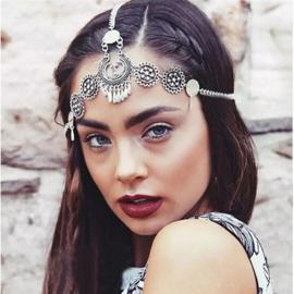 Superleuk zilverkleurig vintage Bohemian hoofdsieraad