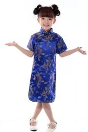 Prachtig kobaltblauw Chinees jurkje
