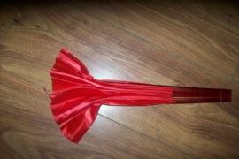 Grote buikdans waaier 40 cm rood