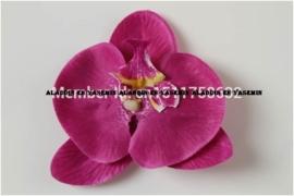 Grote orchidee 10 cm op clip paars
