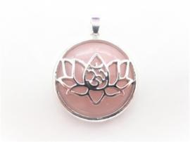 Prachtige lotusbloem hanger met Rozenkwarts