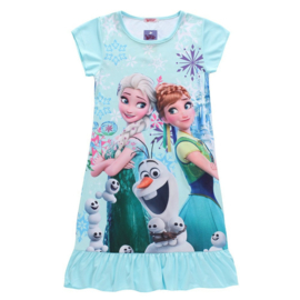 Geweldig jurkje Frozen Elsa Anna en Olaf lichtblauw