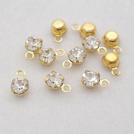 Bedel diamantje goud 5 mm
