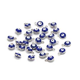Bedel blauw oogje 8 mm