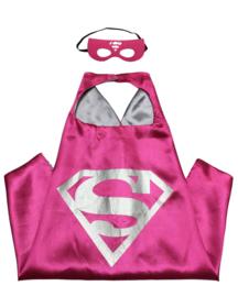 Supergirl cape + masker kind 3-8 jaar