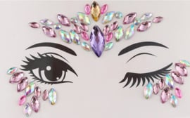 Bindi Face Jewel set multi paars nr.5