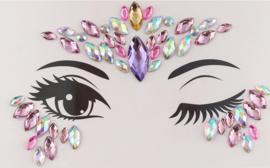 Bindi Face Jewel set multi paars nr.5