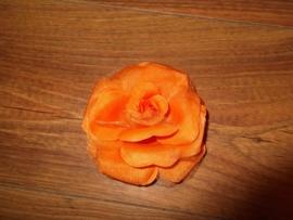Grote roos op klem oranje