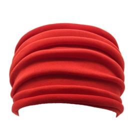 Mooie brede haarband rood