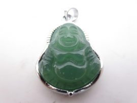 Mooie lachende Boeddha hanger van Jade