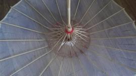 Effen witte Chinese bamboe parasol 70 cm