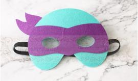 Geweldig leuk en stevig masker ninja turtle van vilt paars