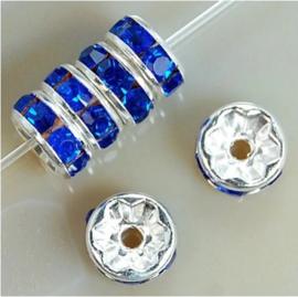 Tussenkraal strass blauw 1x8 mm