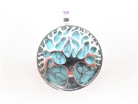 Prachtige levensboom hanger met Turkoois